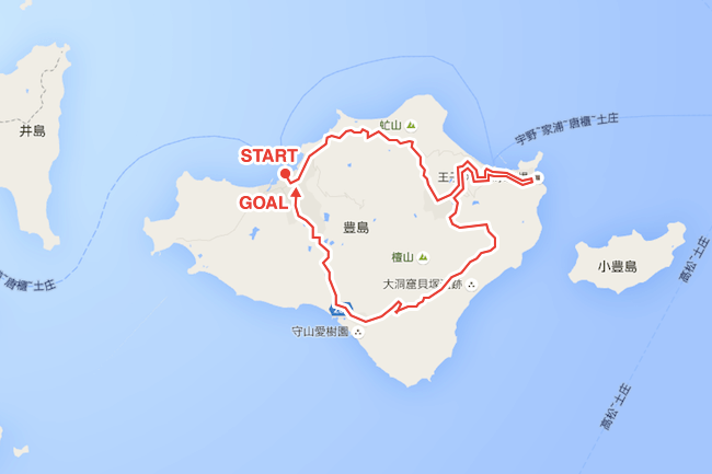 最高に気持ちイイ、女の離島旅。自転車で豊島をグルリ一周するイロハ