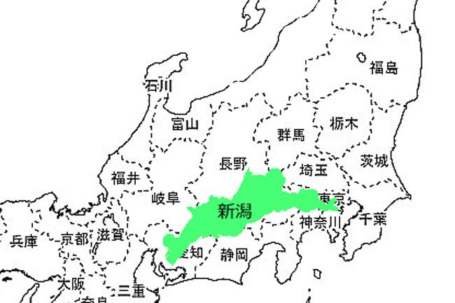 新潟なめてた。新潟県を切り抜いて、地図上で見比べると……?