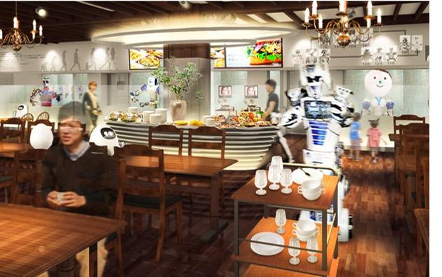 200年後のレストランをテーマにしたロボットの店長とシェフが取り仕切る未来のレストラン
