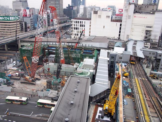 渋谷駅は100年に1度の大改造の真っ最中