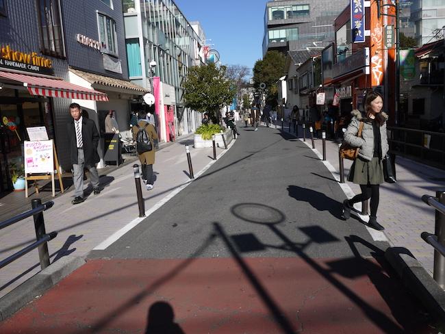 隠田商店街側のキャットストリート
