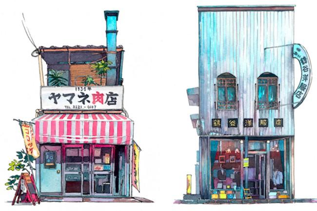 日本人にとっては何でもないごく普通の光景でも、海外からやってきた人には魅力的に見えたりすることもあります。今回は日本の古い町並みに魅了されたポーランド人が描いた東京の商店街をご紹介したいと思います。