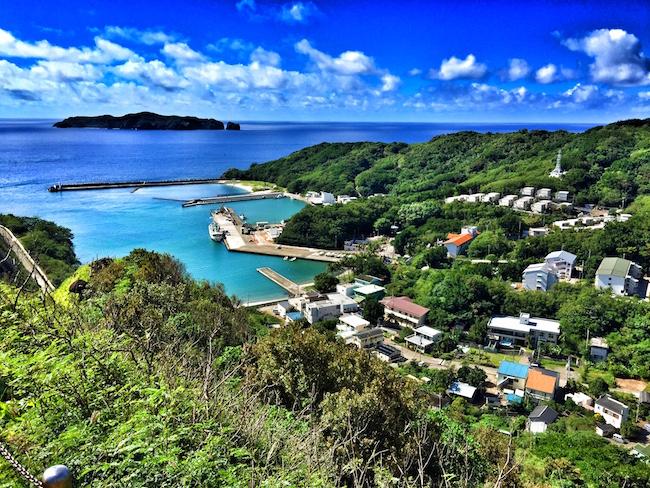 母島。小剣先山頂からの眺望