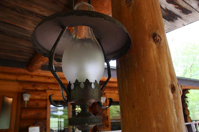 八丁の湯のランプ