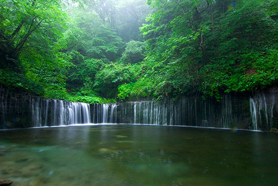昼の白糸の滝