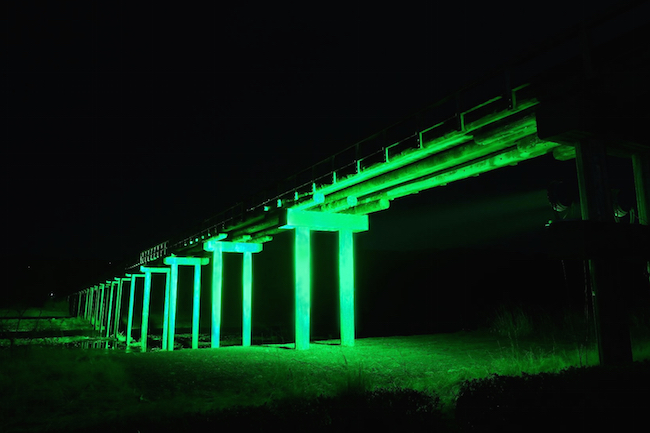 今春、世界一なが〜い木造歩道橋を「緑茶」色に染める大計画が始動!