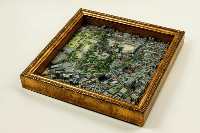 まるでシムシティ。熊本の城下町を3Dジオラマで再現した立体マップ