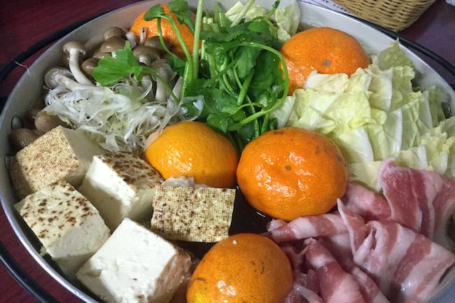 熊本県玉名市産みかんを使ったみかん鍋