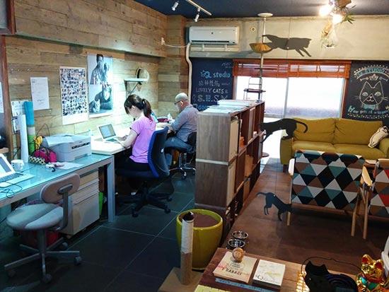 ネコ付きシェアオフィス「Q studio」